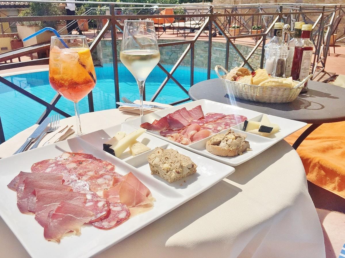 Emma Victoria Stokes Una Palazzo Mannaione Tuscany Cheese Ham Wine