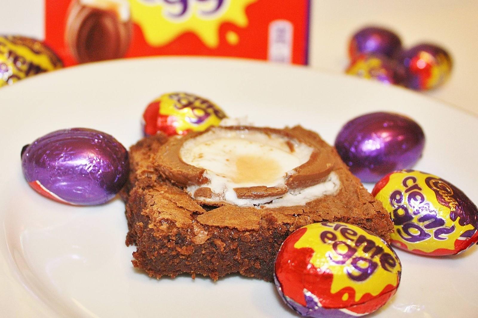Cadbury Creme Egg Easter Brownies