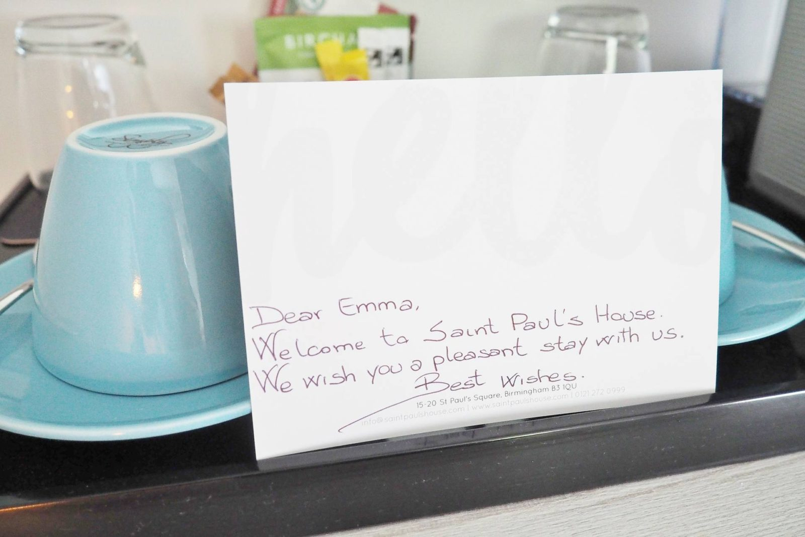 Emma Victoria Stokes Saint Pauls Boutique Hotel Welcome