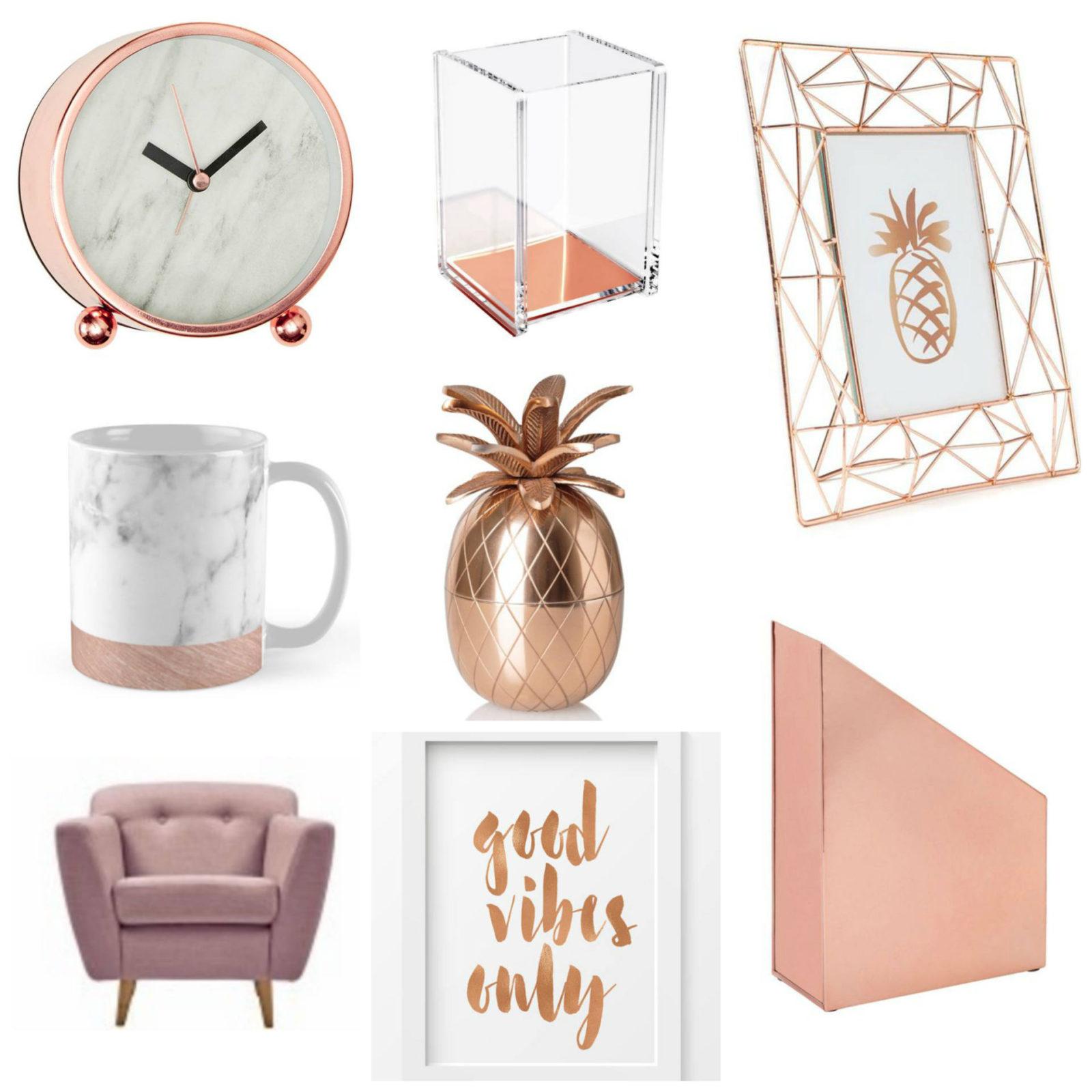 Emma Victoria Stokes Rose Gold Office Essentials