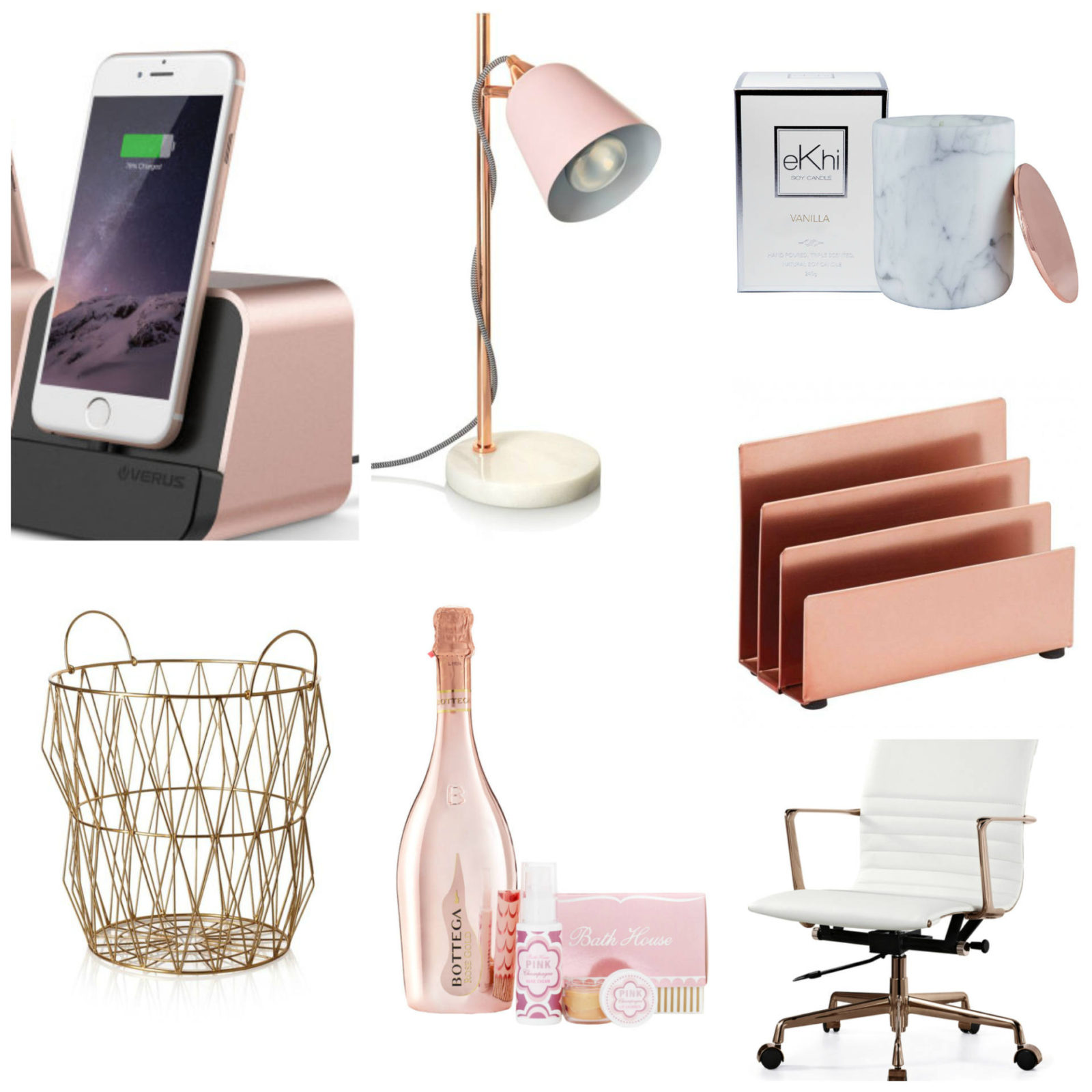 Emma Victoria Stokes Rose Gold Office Essentials