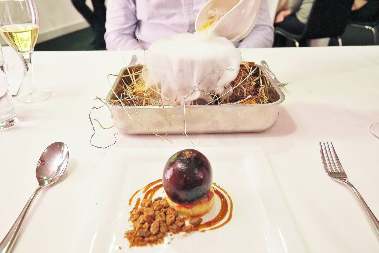 Emma Victoria Stokes Elegant Eat Fine Dining Edgbaston Cricket Ground Spiced Plum