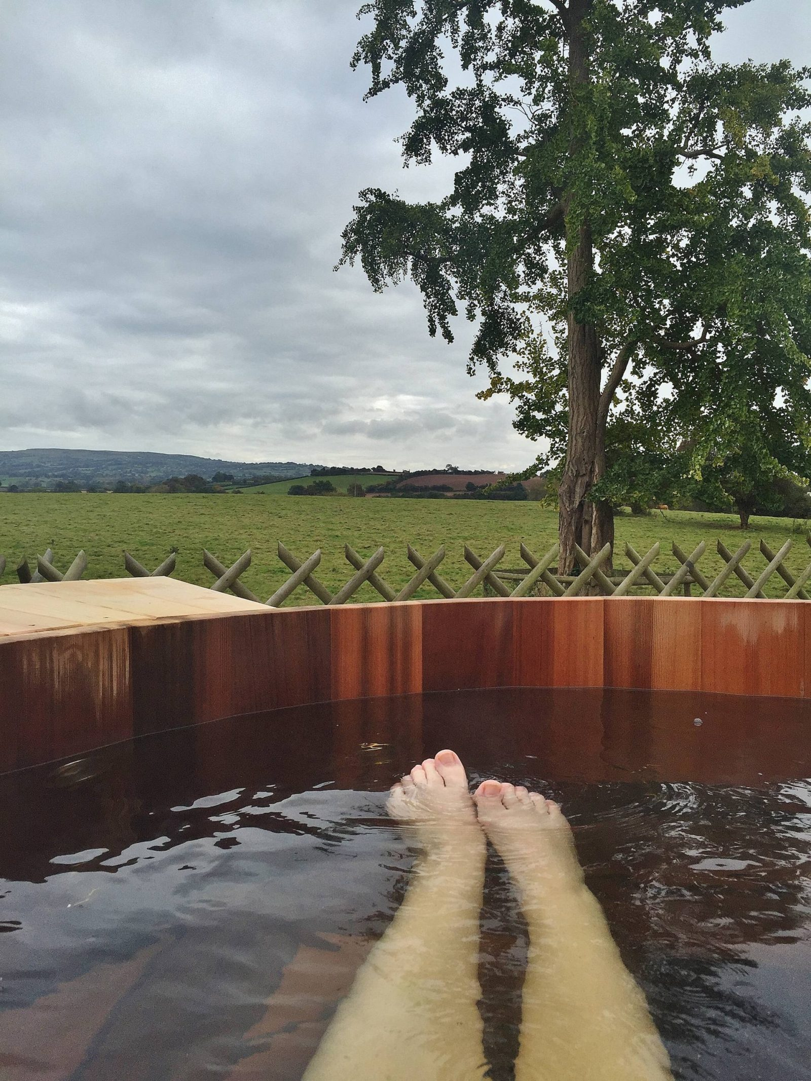 Emma Victoria Stokes Fishmore Hall Ludlow Spashell Outdoor Hot Tub