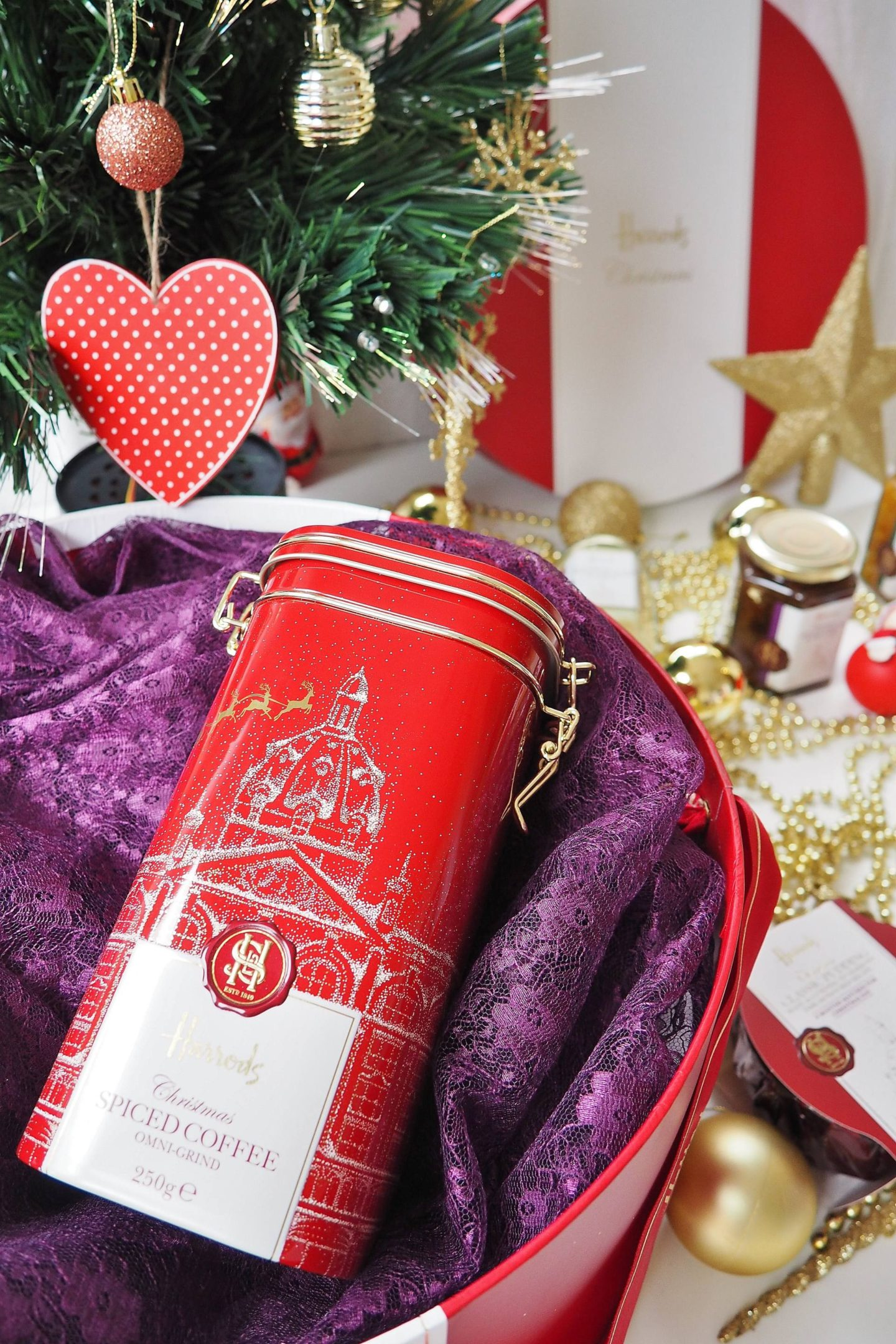 Emma Victoria Stokes Harrods Christmas Hamper Box Blog Review Coffee