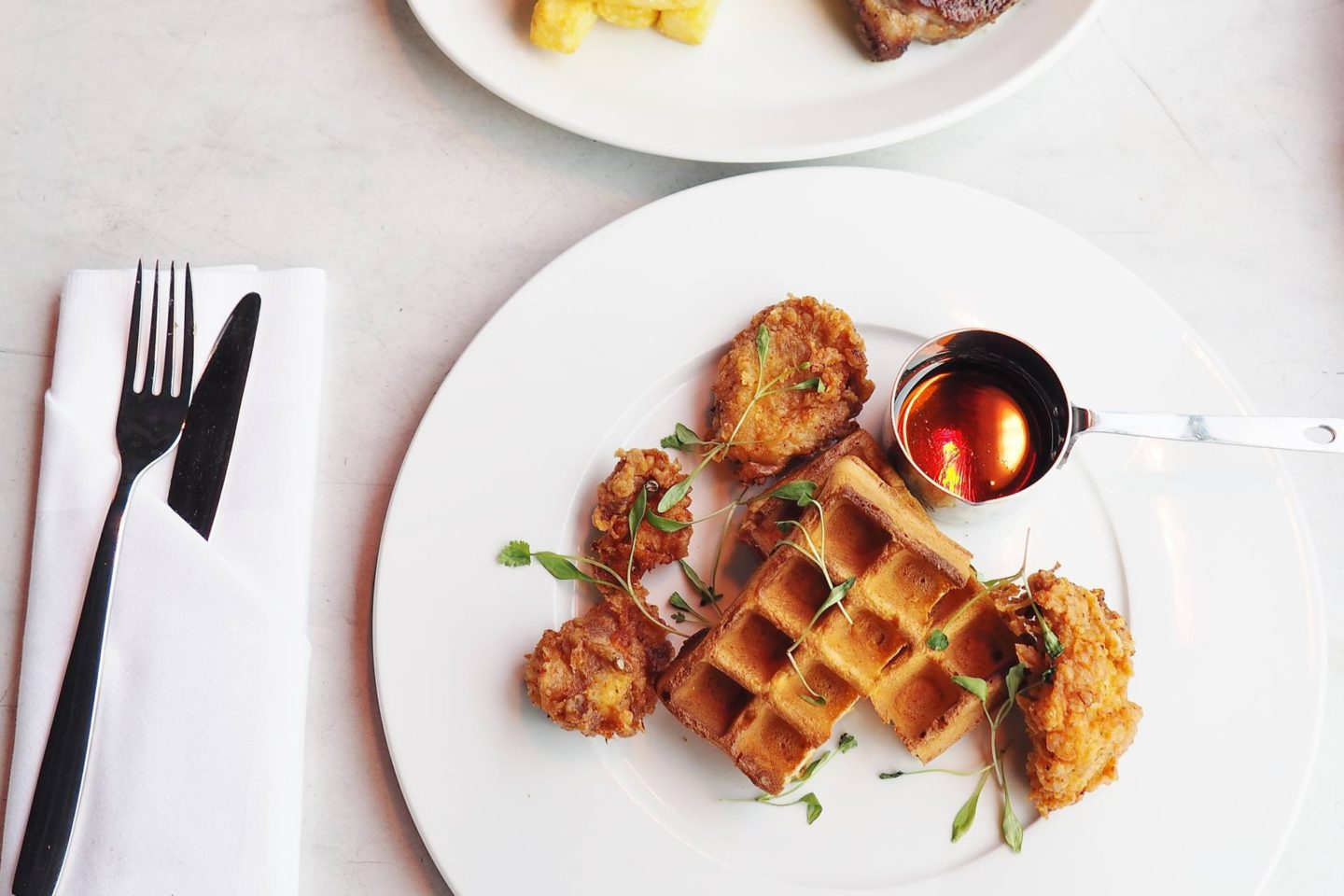 Emma Victoria Stokes Rooftop Radio Bar Buttermilk Chicken Waffles