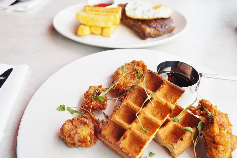 Emma Victoria Stokes Rooftop Radio Bar Buttermilk Chicken Waffles