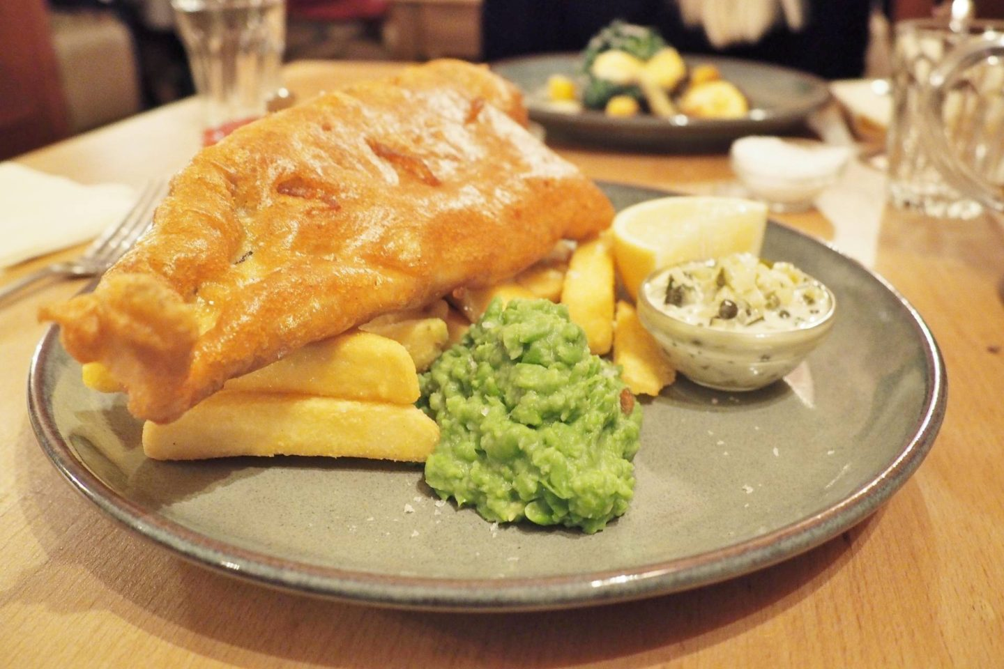 The Fat Fox Watlington Blogger Review Restaurant Haddock and Chips