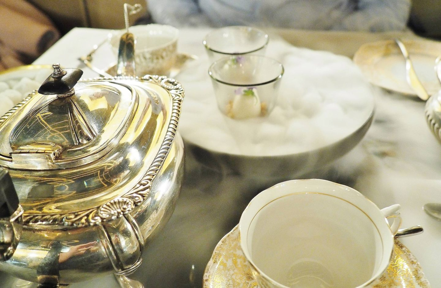 Emma Victoria Stokes Afternoon Tea Edgbaston Hotel Dry Ice
