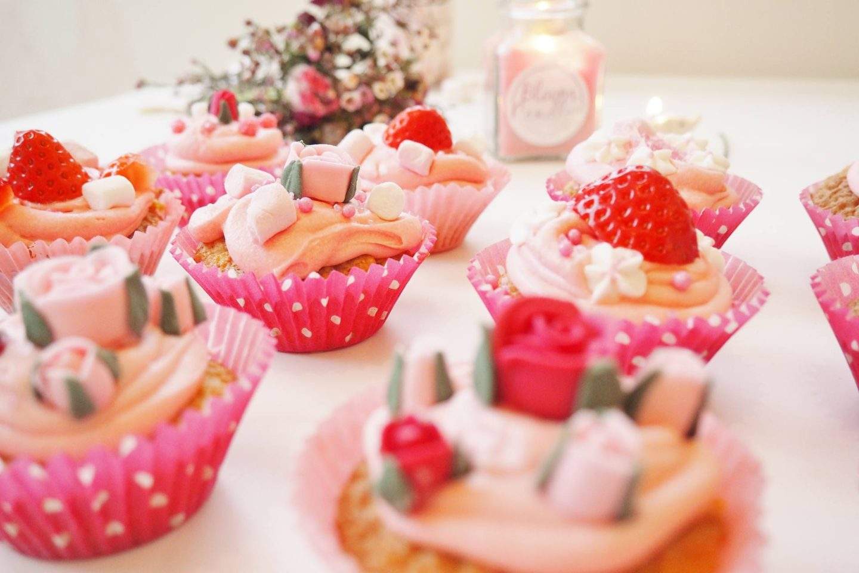 Emma Victoria Stokes Cake Angels UK Galentines Baking Cupcakes Vanilla Buttercream Fondant