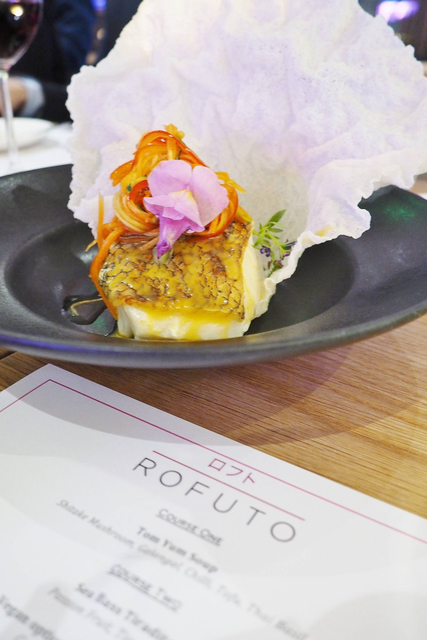 Emma Victoria Stokes Taste of Rofuto Chilean Sea Bass Rice Crisp