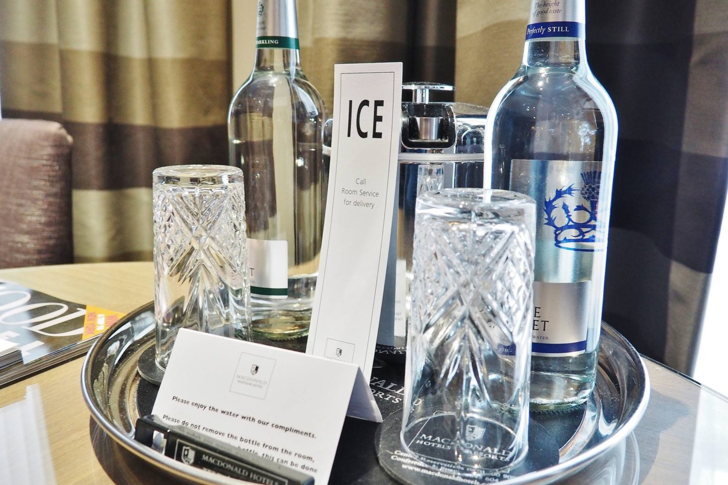 Emma Victoria Stokes Macdonald Windsor Hotel Executive Suite Blogger Review Iced Water