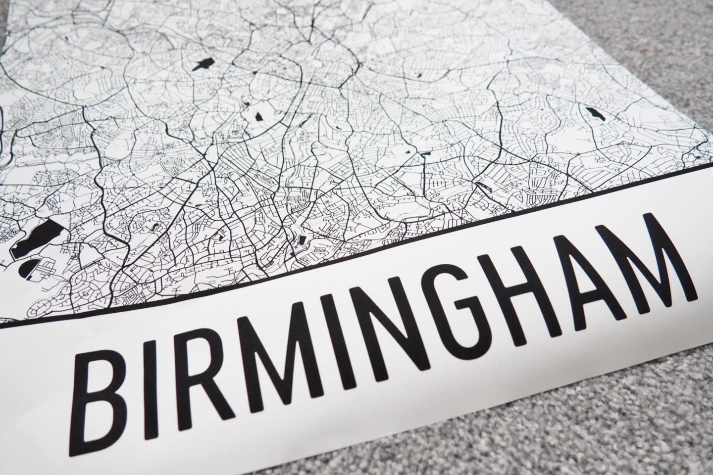 Emma Victoria Stokes Blogger Office Birmingham Map Modern Art