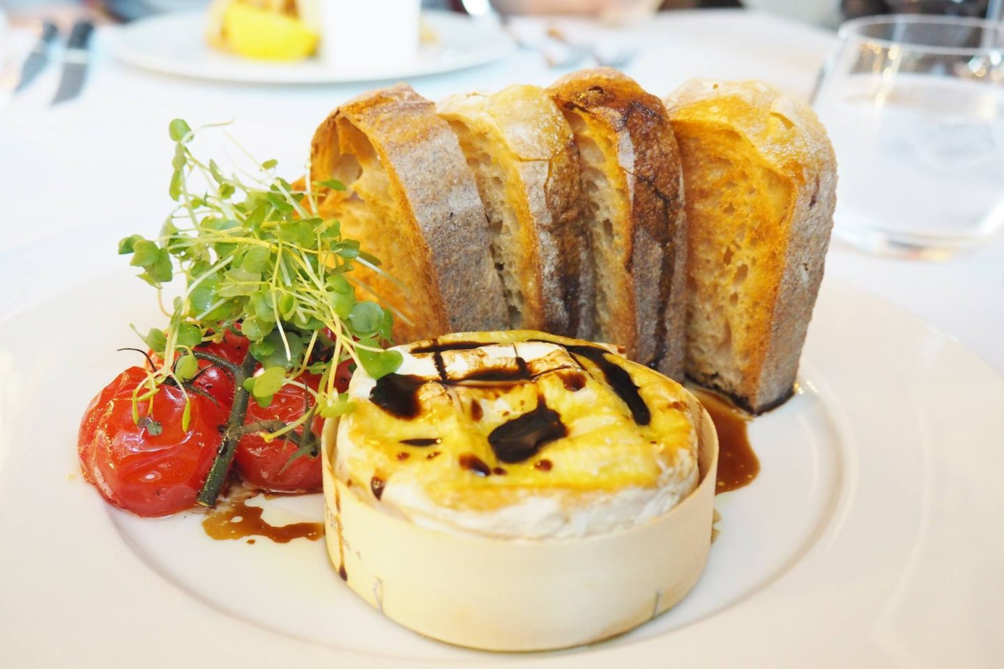 Emma Victoria Stokes Hotel La TourWarm baked Camembert, with vintage balsamic