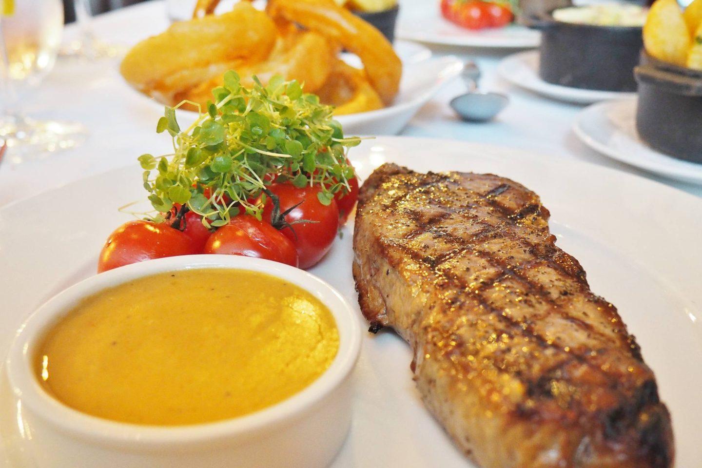 Emma Victoria Stokes Hotel La Tour Sirloin Steak Chips Onion Rings