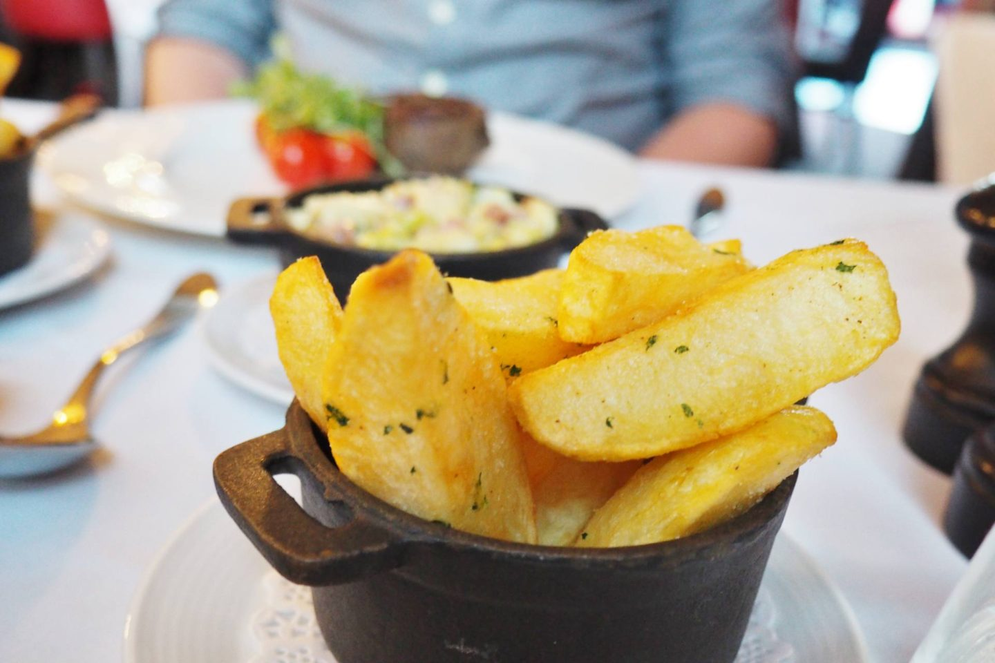 Emma Victoria Stokes Hotel La Tour Menu Triple Cooked Chips
