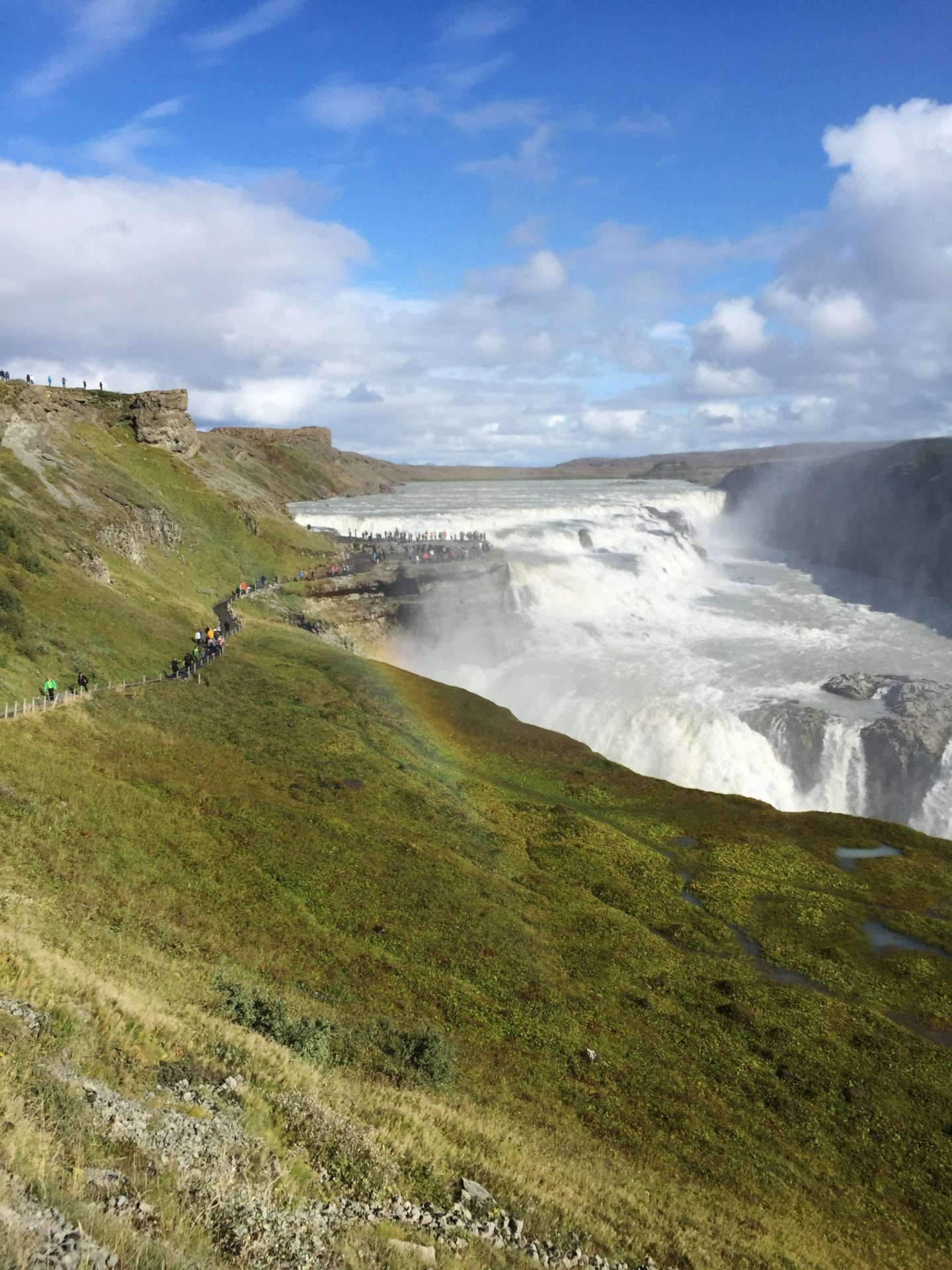 Emma Victoria Stokes Iceland Reykjavik Mountain View Gullfoss Golden Circle Tour Rainbow