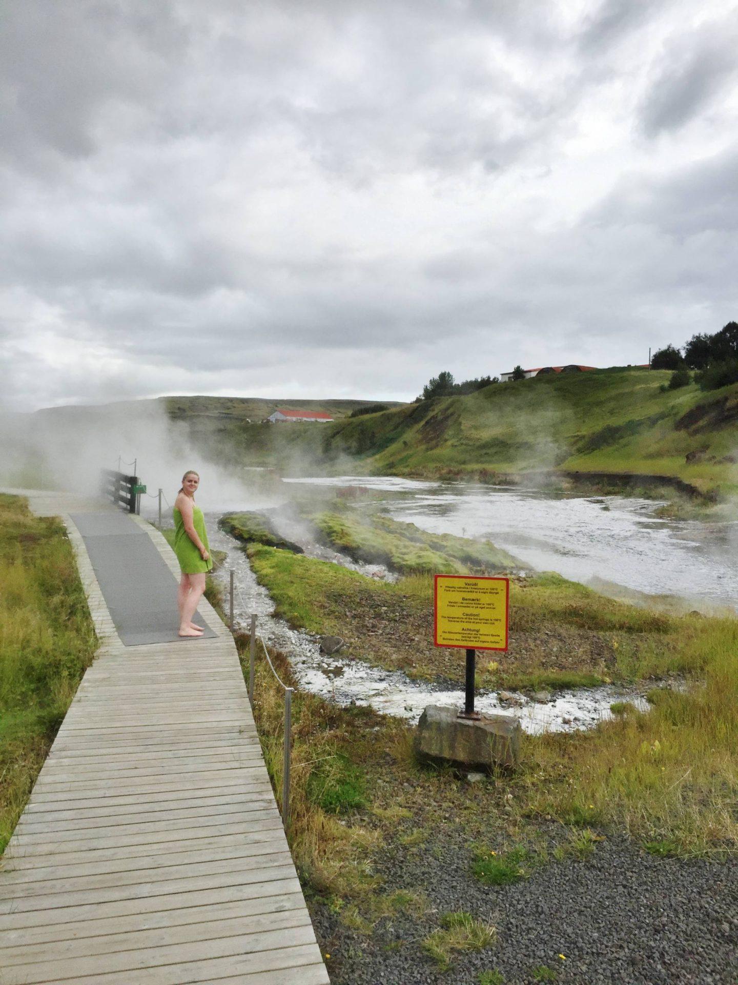 Emma Victoria Stokes Reykjavik Iceland Secret Lagoon Emma