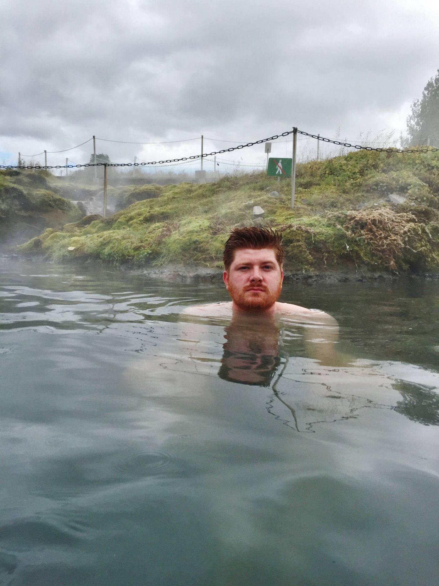 Emma Victoria Stokes Reykjavik Iceland Secret Lagoon