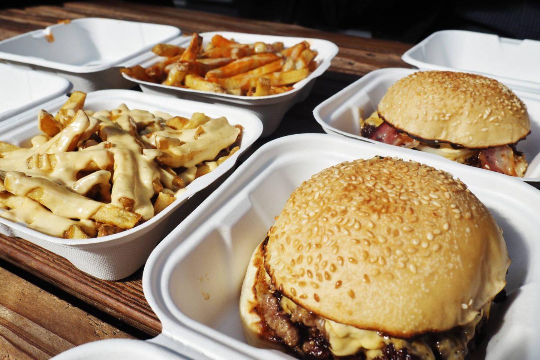 Bleecker Burger Spitalfields Market Double cheese burger