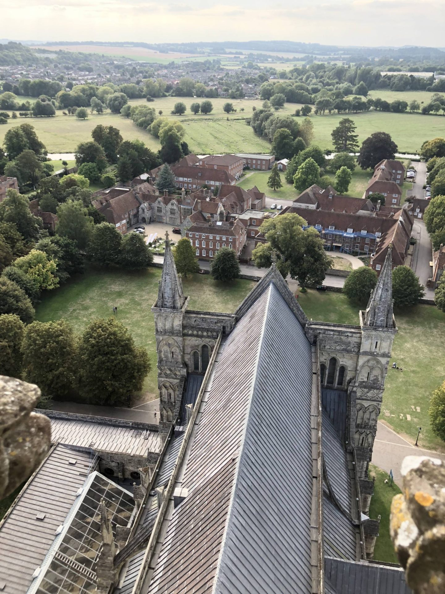 Salisbury Cathedral Tour Visit Wiltshire Aerial View Cathedral