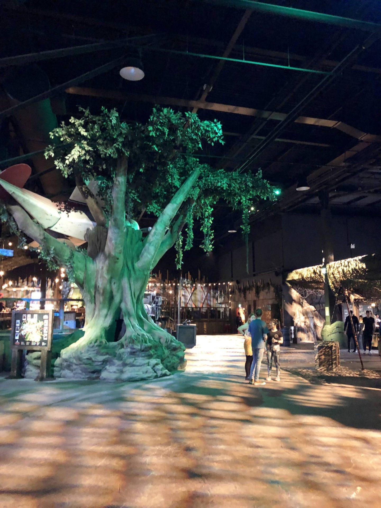 Bear Grylls Attraction Birmingham NEC tree