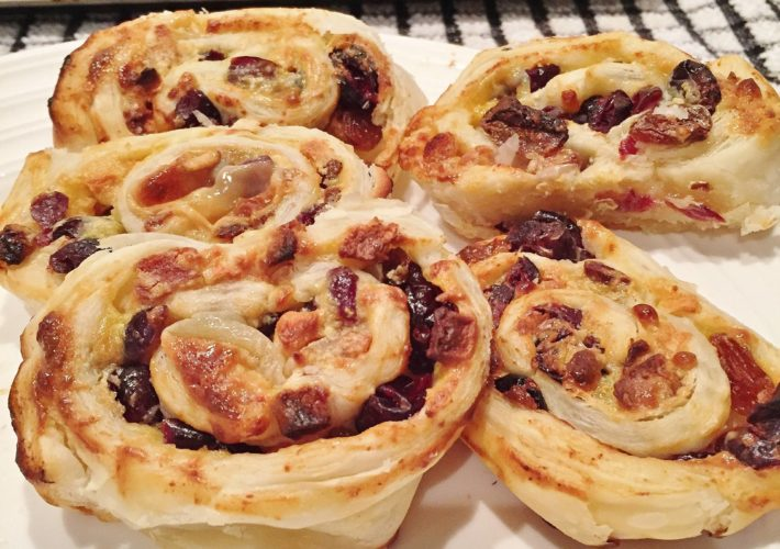 Brie and cranberry pinwheel4