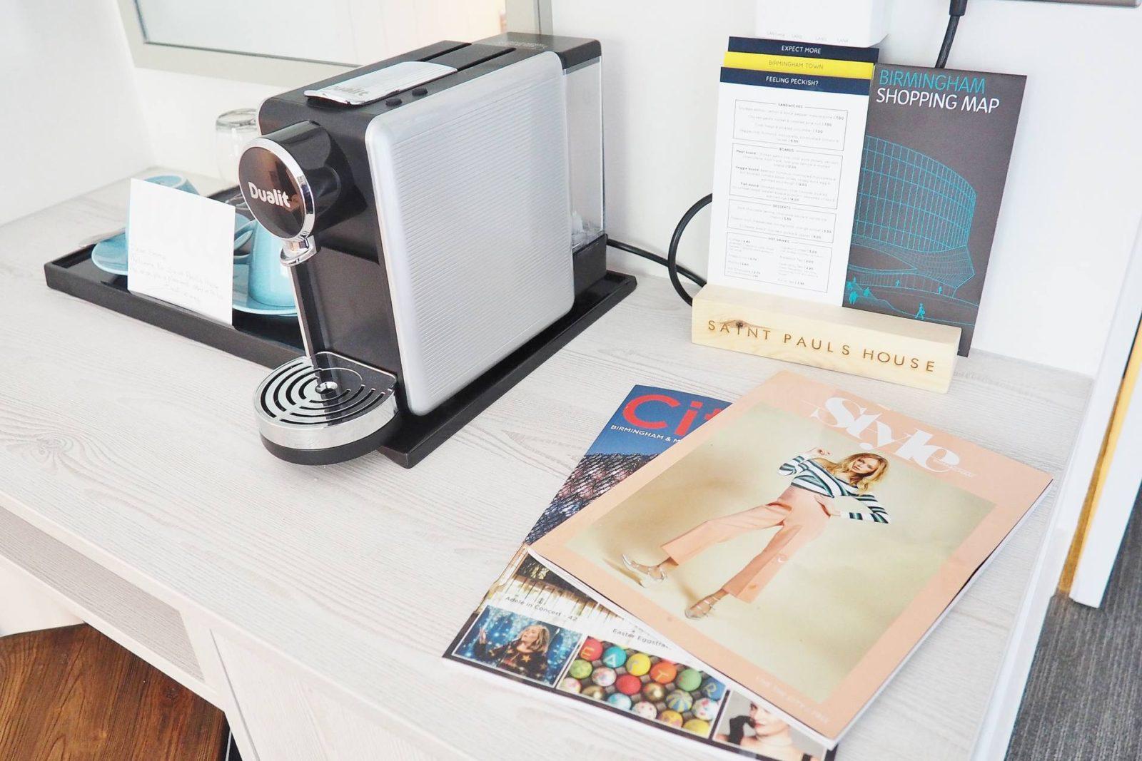 Emma Victoria Stokes Saint Pauls Boutique Hotel Coffee Machine