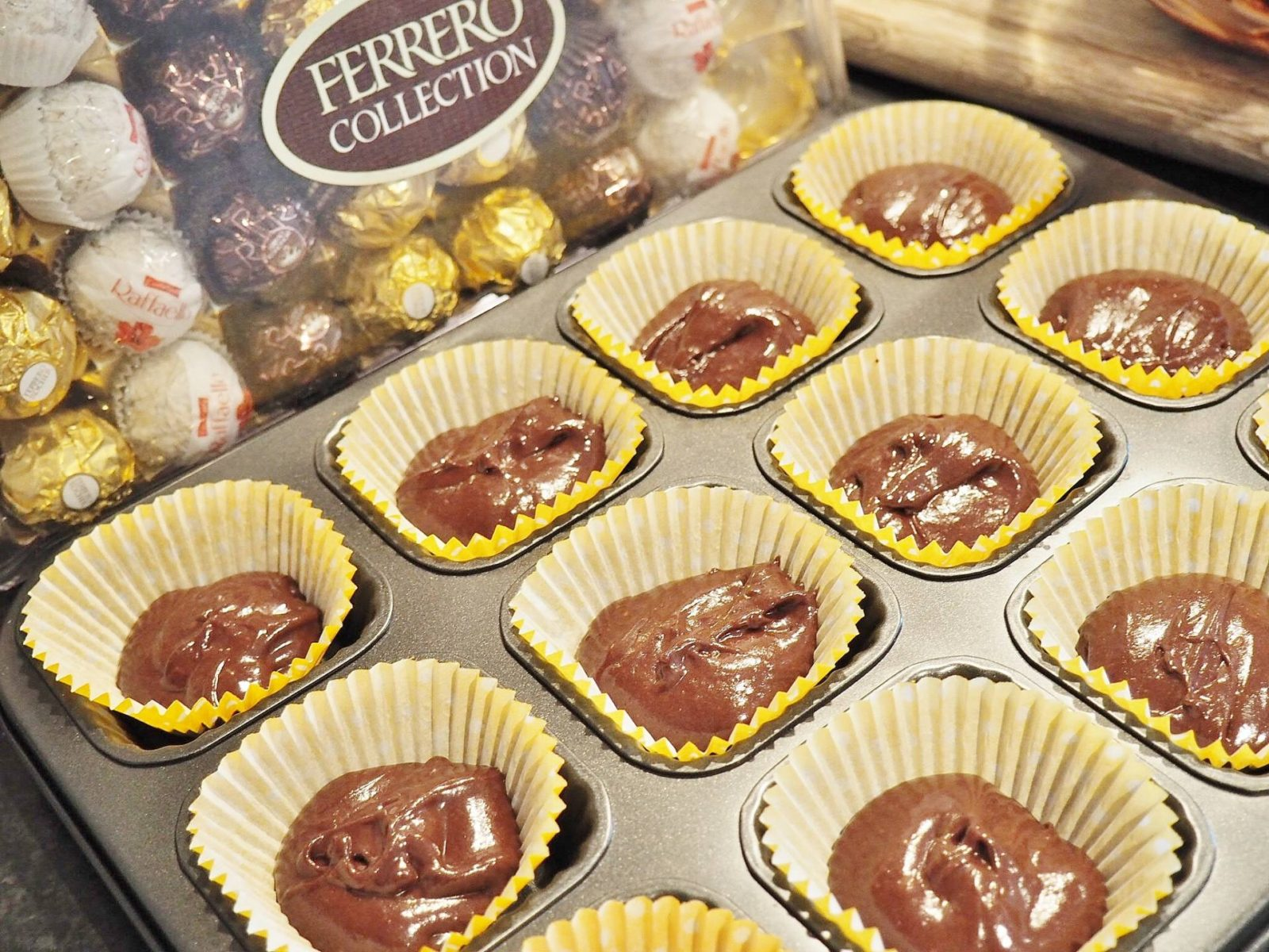 Fererro Rocher Cupcakes Baking