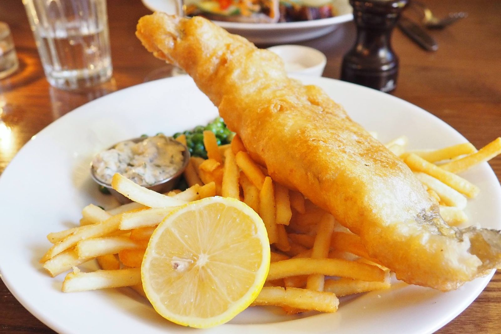 Emma Victoria Stokes The White Horse Duns Tew Hake And Chips.