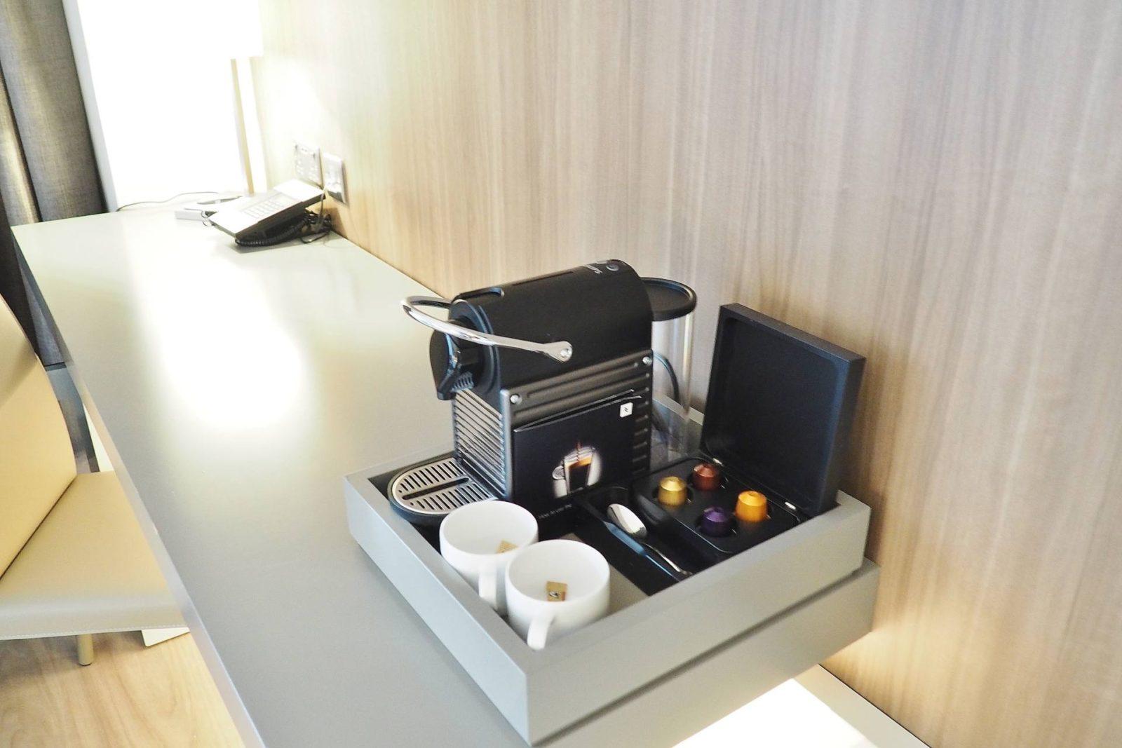 Emma Victoria Stokes AC Hotels Marriott Nespresso Coffee Machine