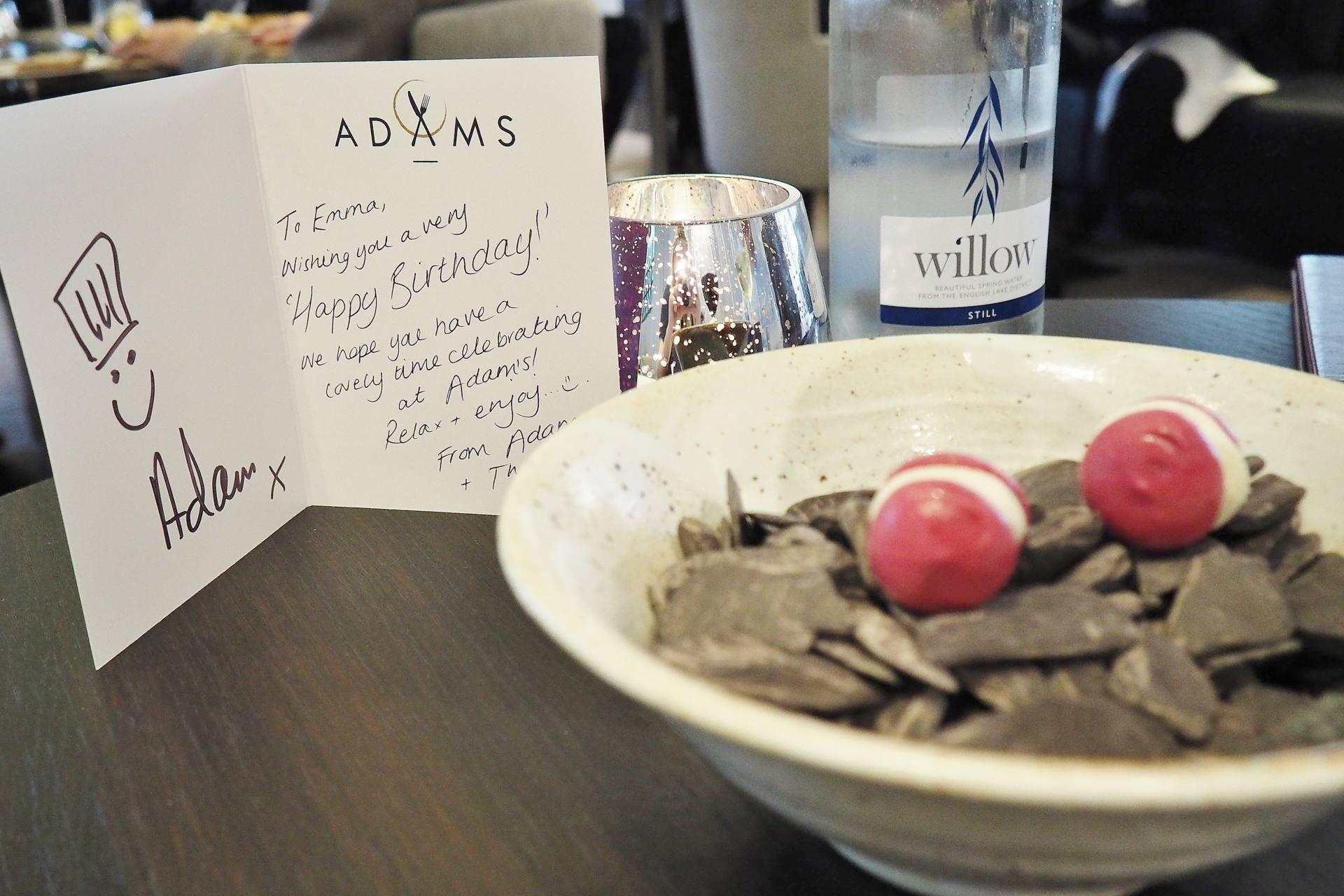 Emma Victoria Stokes Adams Restaurant Birmingham Birthday Card