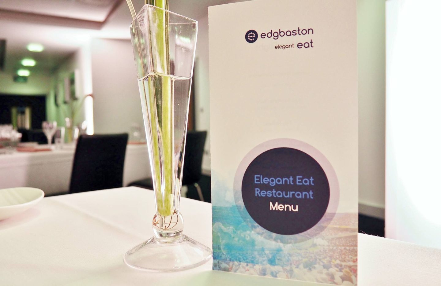 Emma Victoria Stokes Elegant Eat Fine Dining Edgbaston Cricket Ground Birmingham Menu