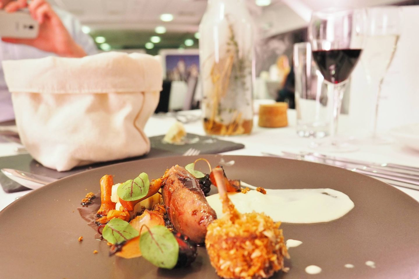 Emma Victoria Stokes Elegant Eat Fine Dining Edgbaston Cricket Ground Pigeon Cooked In Hay
