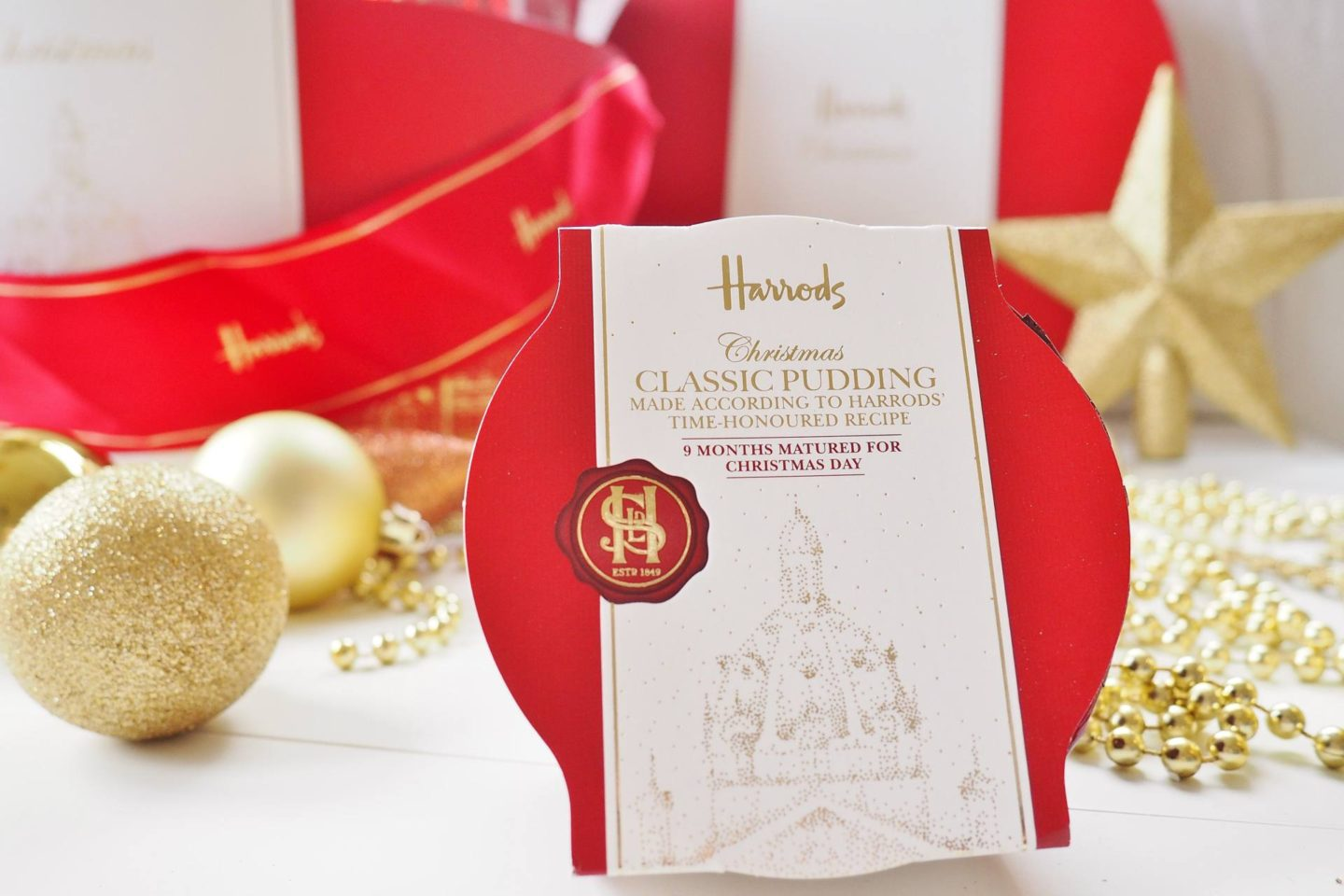 Emma Victoria Stokes Harrods Christmas Hamper Box Blog Review Pudding