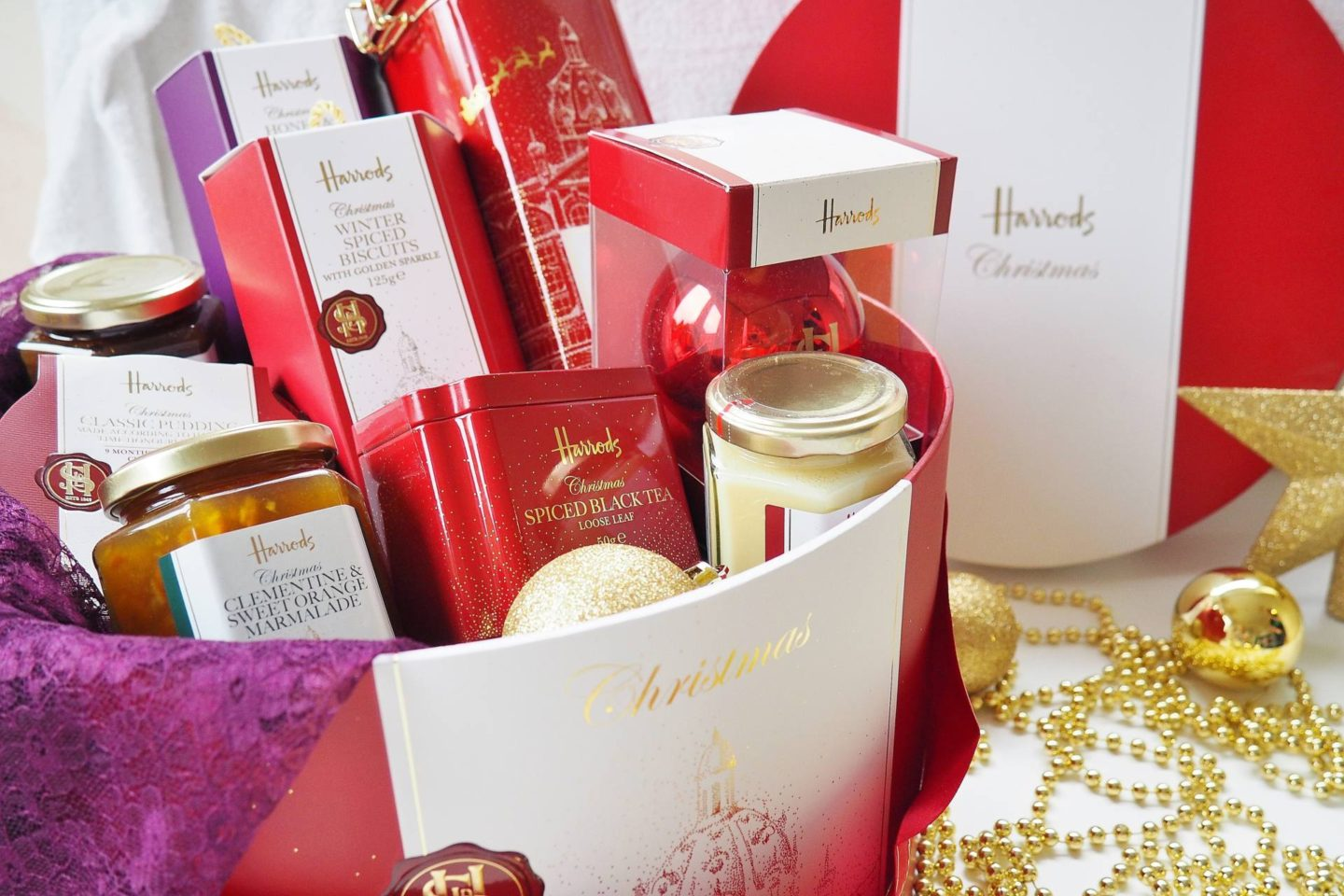 Emma Victoria Stokes Harrods Christmas Hamper Box Blog Review Tea