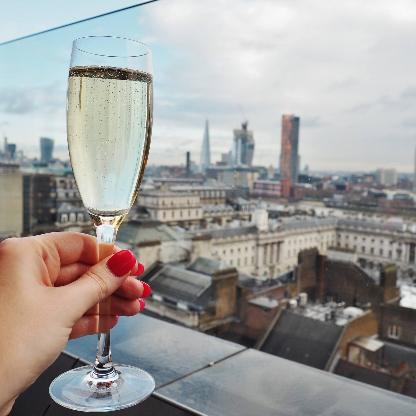 Emma Victoria Stokes Rooftop Radio Bar London Champagne Laurent Perrier Brut