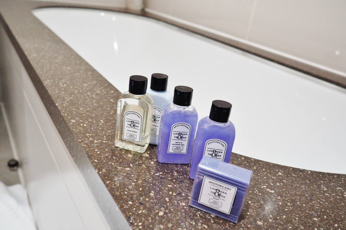 Emma Victoria Stokes Macdonald Windsor Hotel Executive Suite Blogger Review Bath Products