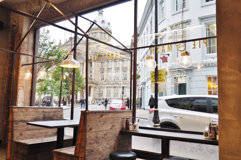 Emma Victoria Stokes Pieminister Birmingham Waterloo Street Blogger Review Window