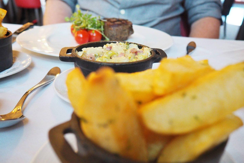 Emma Victoria Stokes Hotel La Tour Menu Onion Rings Creamed Cabbage
