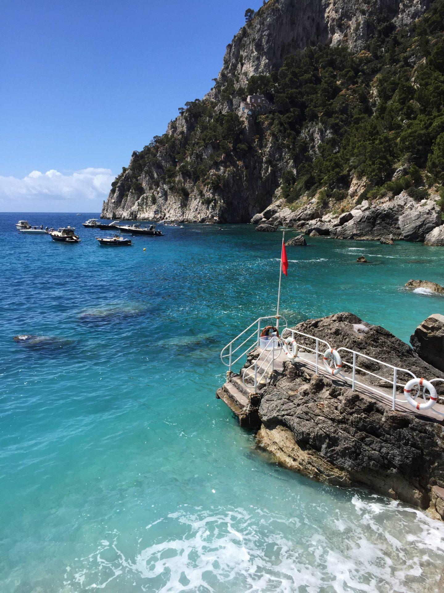 Emma Victorian Stokes Boat Tour Capri Beach Marina Piccola