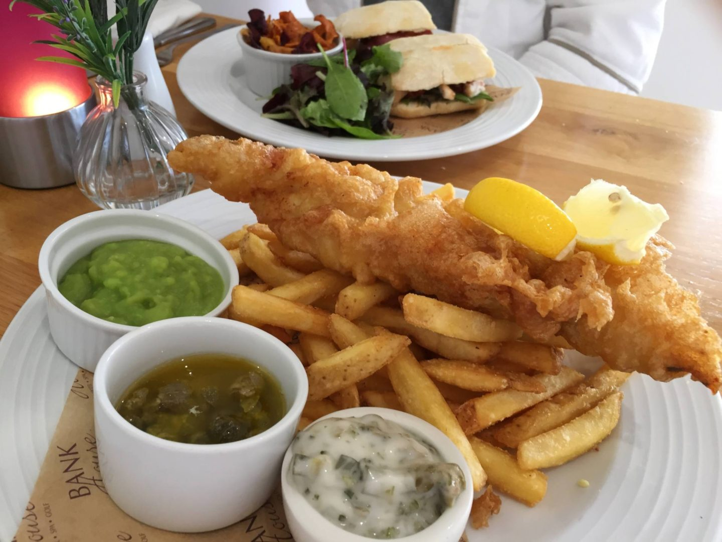 Bank House Hotel And Spa Tempura Haddock