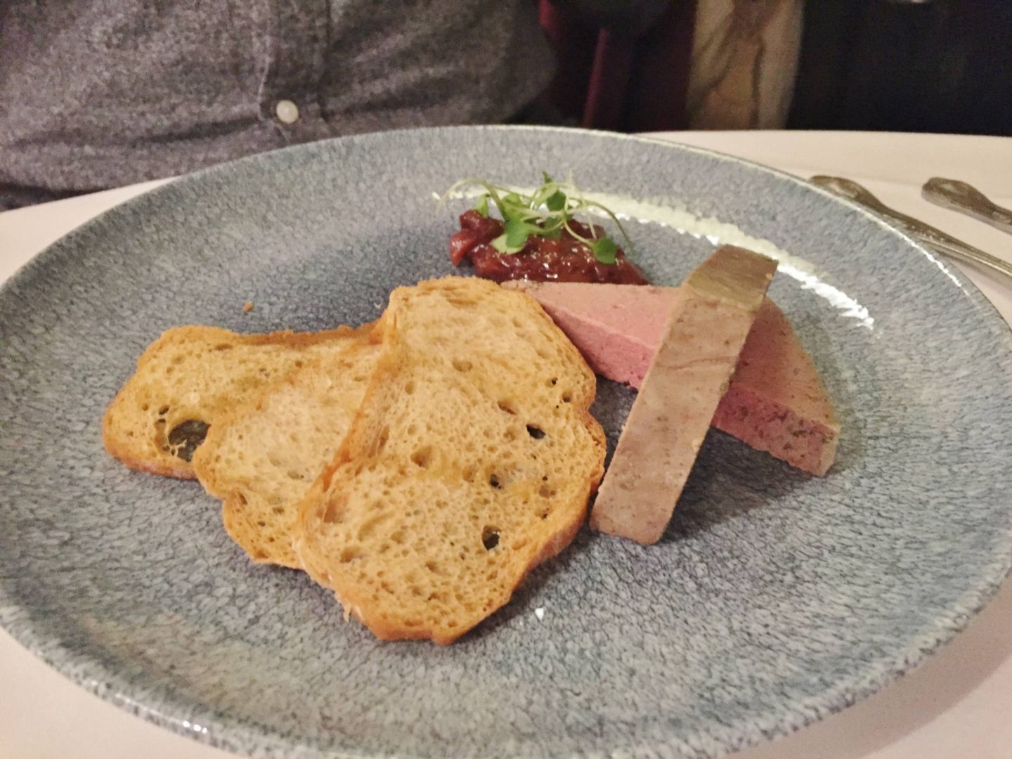 Emma Victoria Stokes Beech Hill Hotel And Spa Review Chicken Liver Parfait