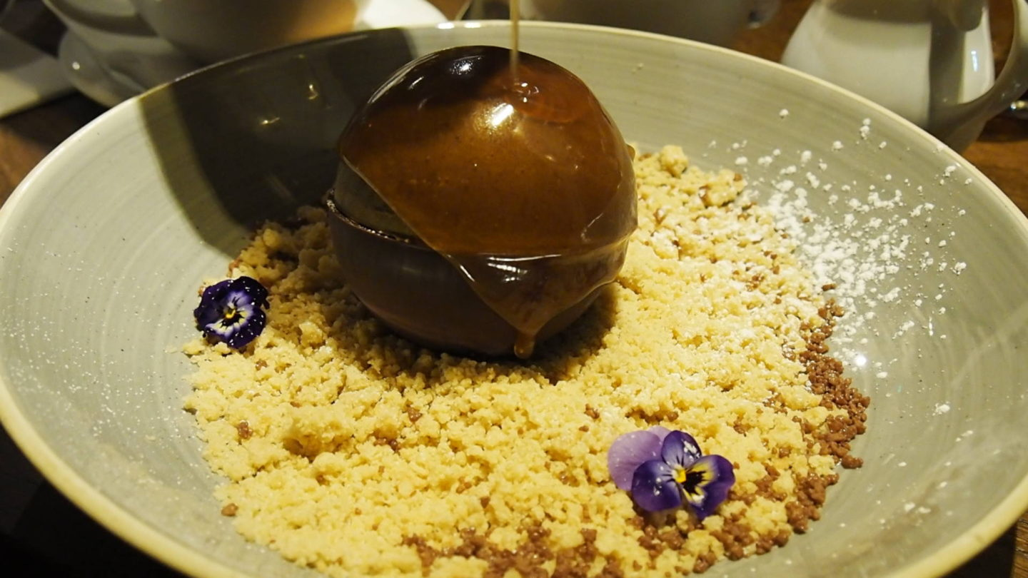 The White Swan Edgbaston Melting Golden chocolate bomb