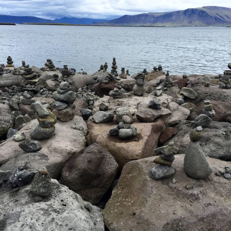 Emma Victoria Stokes Iceland Reykjavik Water Balancing Stones