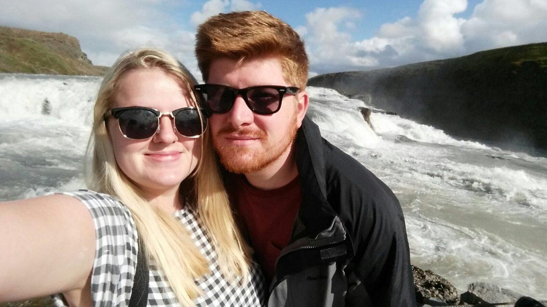 Emma Victoria Stokes Iceland Reykjavik Mountain View Gullfoss Golden Circle Tour Couple Photos