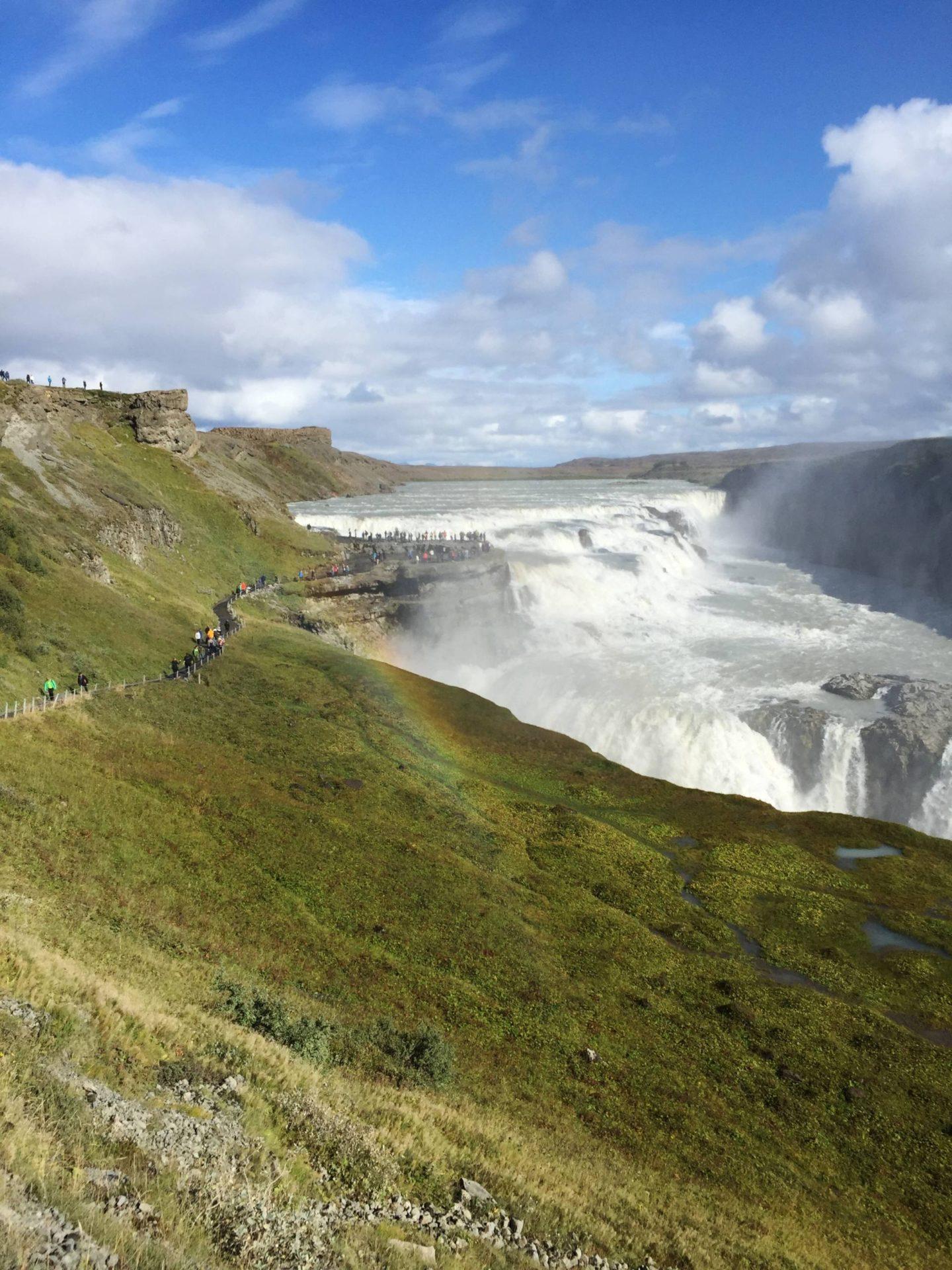 Emma Victoria Stokes Iceland Reykjavik Mountain View Gullfoss Golden Circle Tour Rainbow