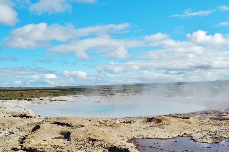 Emma Victoria Stokes Iceland Reykjavik Mountain View Gullfoss Golden Circle Tour Geysir Erupting Water