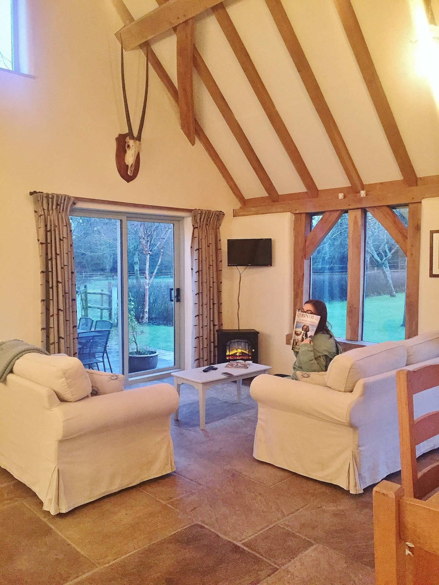 Ashwell Barn Chedworth Lounge Airbnb Cotswolds
