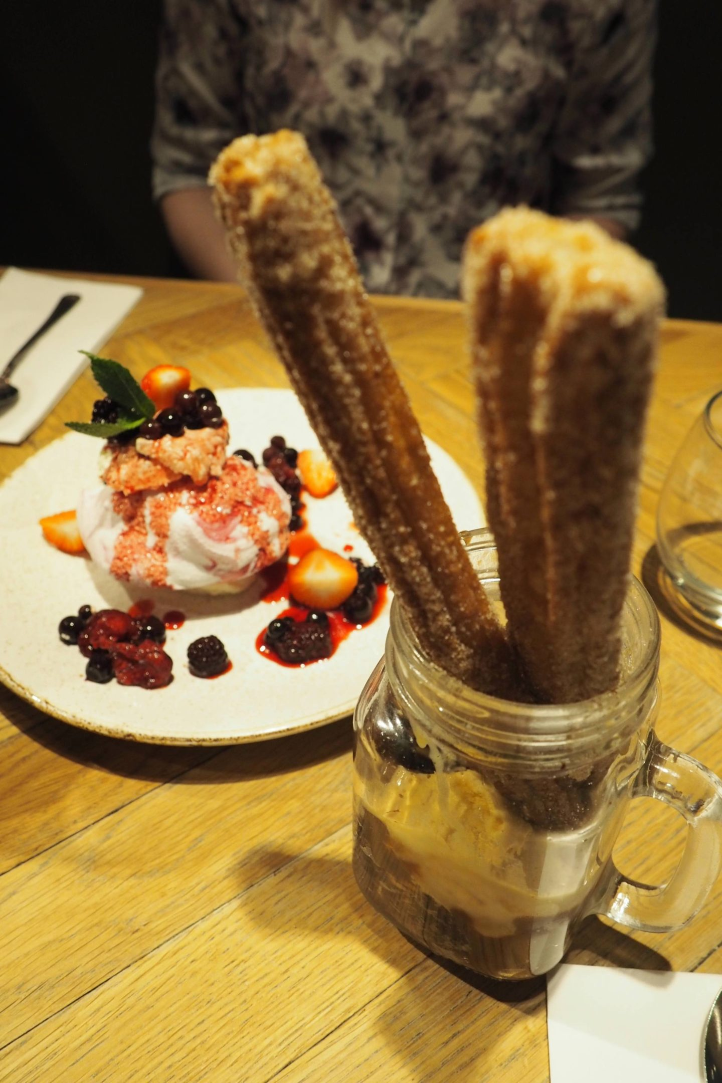 Bar + Block Pudding Chocolate Churros Sundae