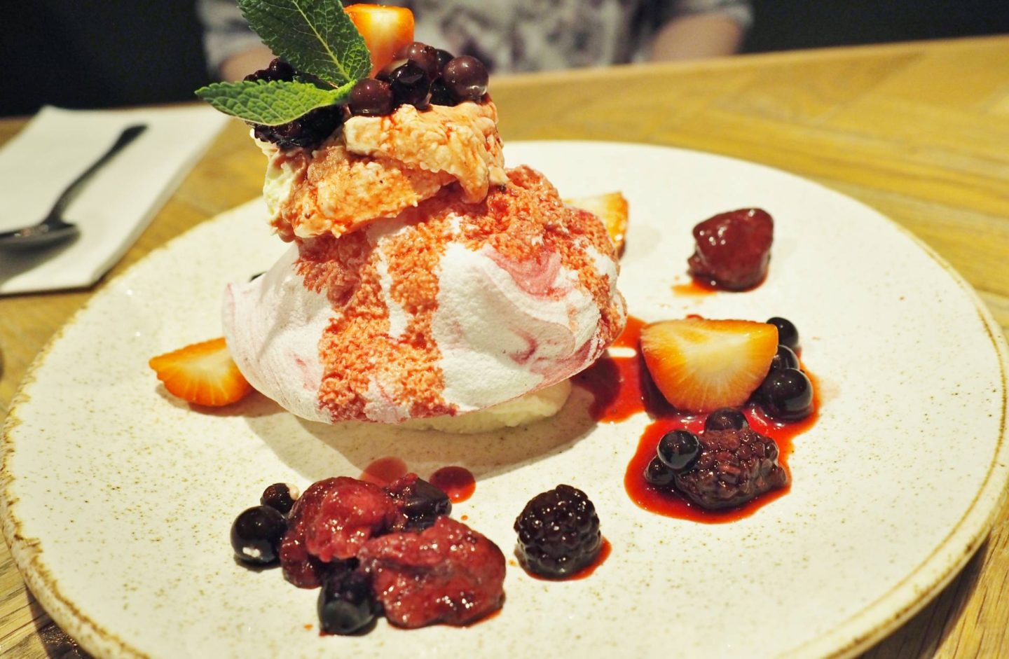 Mixed Berry Pavlova Bar and Block Birmingham